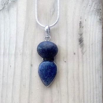 Traditional double stone Indian Pendant with Lapis